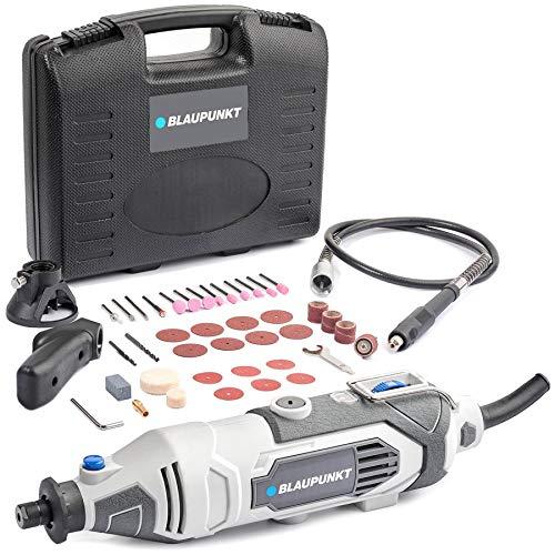Juego de herramientas rotativas Blaupunkt RT3000 - Motor eléctrico 135W - Kit de accesorios de 42 piezas - Velocidad variable 8000-33000rpm - Eje flexible de 1m
