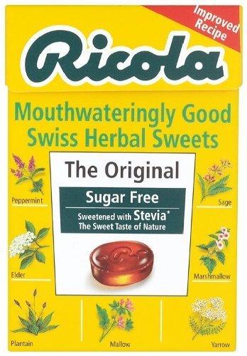 Ricola Swiss Sugar Free Herb with Stevia Herbal Drops 45g Box (Pack of 10)