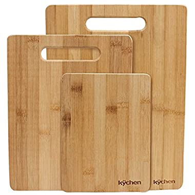 Natural Bamboo 3 Piece Cutting Board Set by Kÿchen
