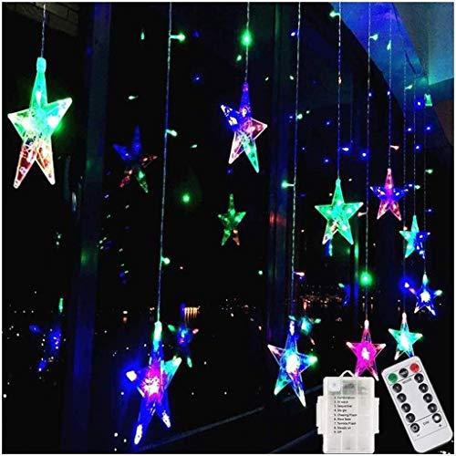 ZBM-ZBM Gordijn String Lights, USB+Batterij Bediende 8 Modi Waterdichte IP67 Ster Fairy String Lights Venster Icicle Lighting Voor Thuis Kerstmis Halloween Bruiloft Feestverlichting