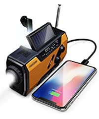 [2000MAH POWER BANK WILL KEEP DEVICES POWERED] FosPower's emergency radio incorporates a 2000mAh power bank capable of providing emergency power to any small tablet or phone. [3 POWER SOURCES POWER WHEN YOU NEED IT] Use the emergency weather radio's ...