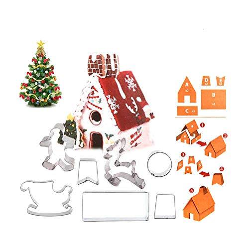 ZDSM Conjunto De Molde De Galletas De Acero Inoxidable Cocina DIY Herramientas De Horneado Molde De Galletas De Navidad 9 Juegos La Imagen Muestra/Acero Inoxidable