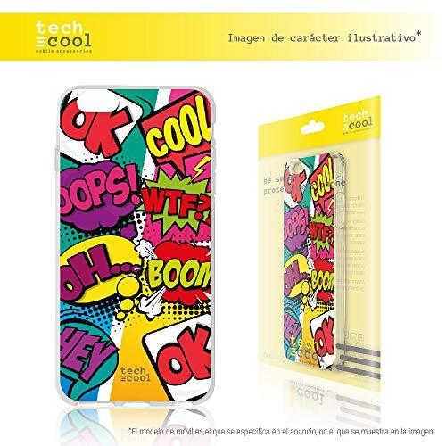 Funnytech Funda Silicona para Sony Xperia 5 [Gel Silicona Flexible, Diseño Exclusivo] Frases Comic
