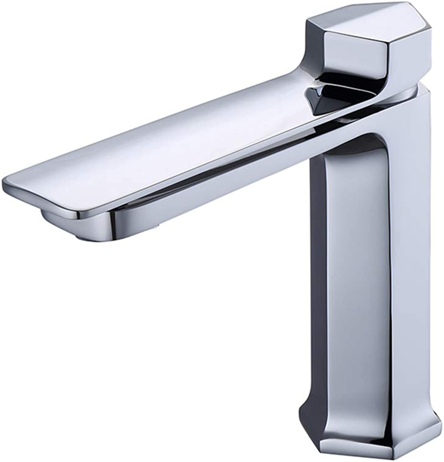 IFELGUD New Chrome Basin Faucet Mirror Tap Hot and Cold Water Mixer Faucet Single Handle Pull up Kitchen Mixer