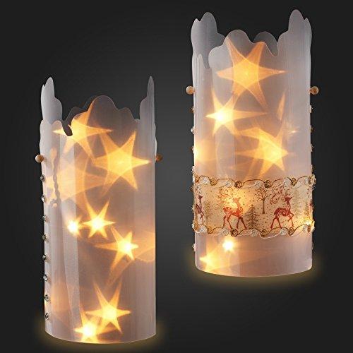 Sternentraum-Lampenfolie, welle, 2 teilig, komplett, ohne Lichterkette
