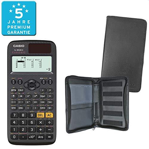 Casio FX-85DE X (SCHULpaket) + Erweiterte Garantie + Schutztasche : calcumio Artikel Set