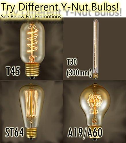Y-Nut Loft Style Lamp,Watchman Night Lamp Steam Punk Industrial Table Desk Light LL-002