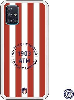 Funda para Samsung Galaxy A51 Oficial del Atlético de Madrid Atleti Coraje y Corazon para Proteger tu móvil. Carcasa para Samsung de Silicona Flexible con Licencia Oficial del Atlético de Madrid.