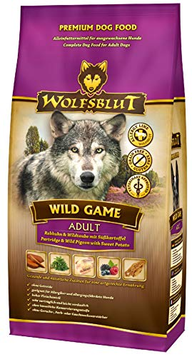 Wolfsblut | Wild Game | 15 kg | Rebhuhn und Wildtaube | Trockenfutter | Hundefutter | Getreidefrei