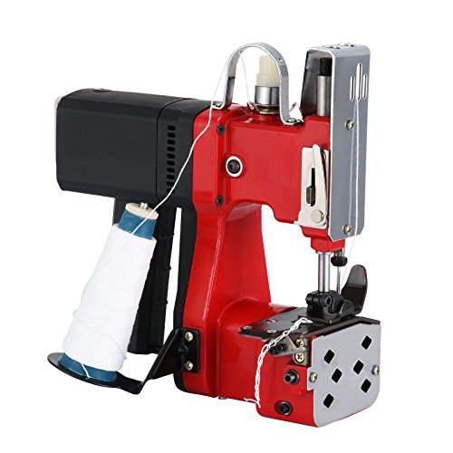 VEVOR Bag Closer Closing Machine 110V Portable Sewing Electric Stitcher Knitted Bag Sealing Closing Packing Machine Closer for Woven Snakeskin Bag Sack (110V)