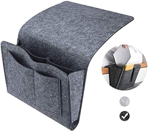 Esteopt Felt Bedside Storage Hanging, Bedside Storage Pockets Bunk Bed Storage Bag Bedside Organizer Caddy For Room Black