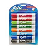 EXPO 1743032  Low-Odor Dry Erase Markers, Chisel Tip, Fashion Colors, 8-Count