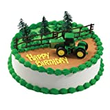 John Deere Party Cake Decoration Kit Tractor Style