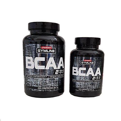 Enervit Gymline Muscle B.C.A.A. Amminoacidi Ramificati 300 Compresse+120 OMAGGIO