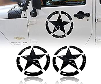 Hooke Road US Army Military Star Car Sticker Decals for Car/Truck/Ford F150/Jeep Wrangler - 2PCS 16.1 inch
