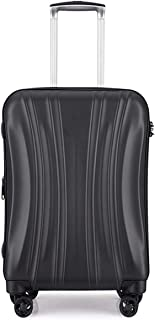 Unisex Trolley Case Luggage,360° Spinner Wheel with TSA Ultra-Light Scratch-Resistant Suitcase Boarding Consignment Box,Black,19inch
