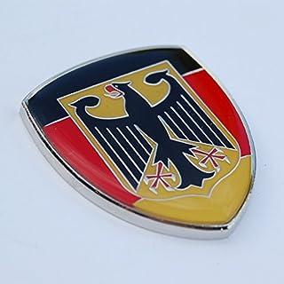 "Amazing German Germany Show Quality Metal Decorative Emblem Decal Ornament 1.5"" tall"