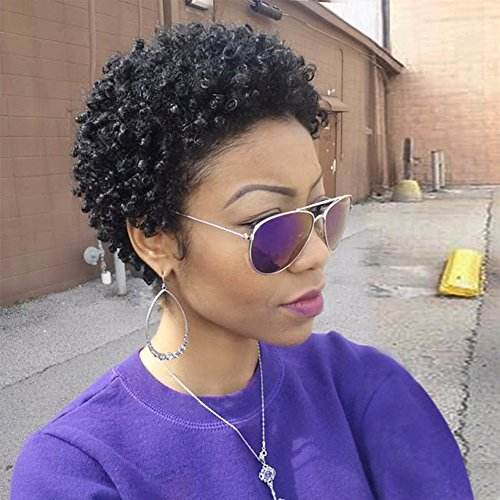 Wignee Remy Human Hair Afro Curly Short Style Wigs Natural Black Buy Online In United Arab Emirates At Desertcart Productid 66607868