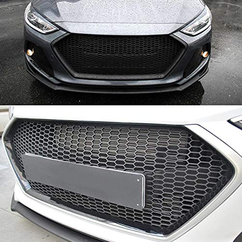 Car Front Bumper Grill Mesh Hood Front Center Middle Grille for Hyundai Elantra 2017-2018 Front Bumper Grille Car Accessories (Misc.)
