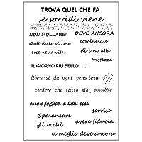 jokeWEN クリアスタンプ シリコンスタンプ イタリアの願いDIYシリコンクリアスタンプシールスクラップブックエンボスアルバムの装飾