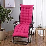 FCXBQ Cojín reclinable para muebles de jardín, cojines para tumbona reclinable, cojines gruesos, cojines para silla al aire libre, patio, jardín, cubierta de repuesto para asiento de jardín o patio