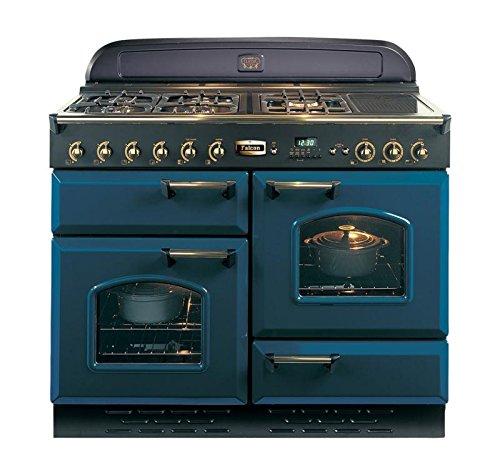 Falcon RANGECOOKER CLASSIC 110 kön.blau /mess. - Kochfeld GAS Grill / O+U Ofen / HL Ofen