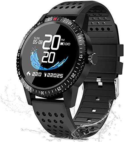 Smartwatch Fitness reloj, presión arterial reloj con pulsómetro IP67 resistente al agua reloj deportivo