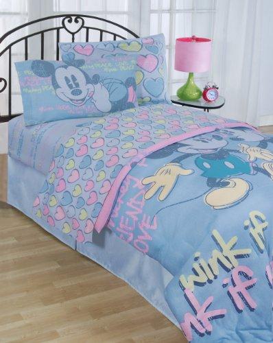 Disney Mickey Chevron et Pois 99,1 x 190,5 cm Twin de lit, Coton mélangé, Vintage, Includes (1) Fitted, (1) Flat, (2) Pillowcases
