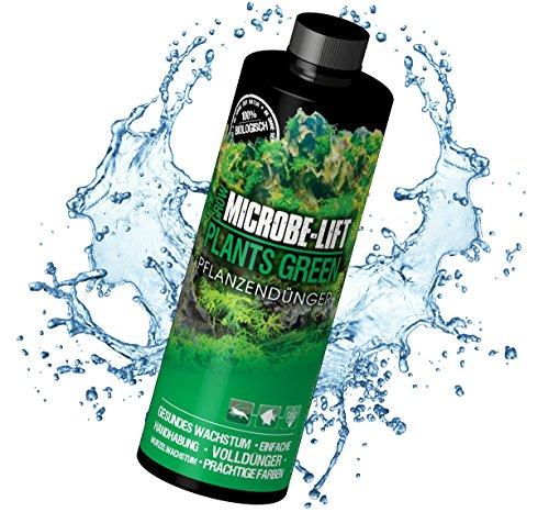 MICROBE-LIFT Plants Green - Pflanzendünger - wöchentlicher Volldünger mit Allen wichtigen Spurenelementen und Vitaminen, für prächtige und gesunde Aquarienpflanzen, 236ml