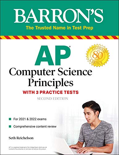 Compare Textbook Prices for AP Computer Science Principles with 3 Practice Tests Barron's Test Prep Second Edition ISBN 9781506267036 by Reichelson, Seth