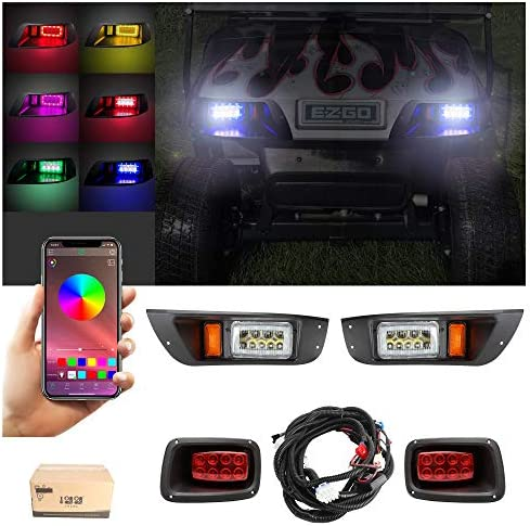 10L0L Golf Cart Deluxe LED Light Kit with Daytime Running Light Turn Signal Function Fits for product image