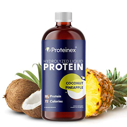 Liquid Protein Hydrolyzed by Proteinex. No Fat, Sugar Free, No Carbs. Predigested Hydrolysate Supplement. Supports Recovery Surgery Treatment Muscles and Joints
