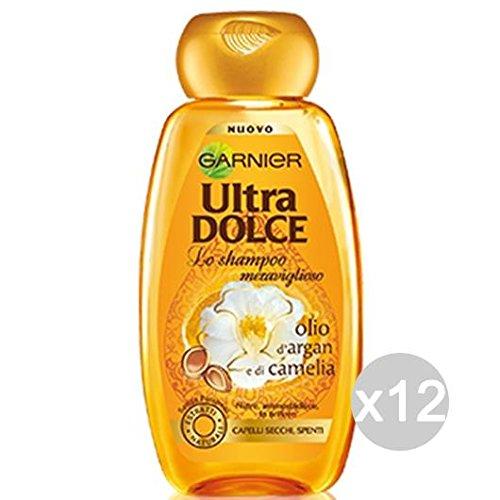 Set 12 GARNIER Ultra Dolce Shampoo Meraviglioso Olio Argan Came Cura Dei Capelli
