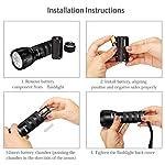 Waklyte Black Light, Mini UV Flashlight, 21 LED 395 nm Ultraviolet Blacklight Detector for Dog Urine, Pet Stains and Bed Bug (Battery Included) 14