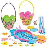 Baker Ross AT380 - Kits Cestería Florales - Actividad de Manualidades Primaverales Infant...