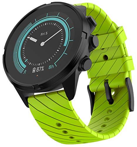 Shieranlee Compatible with Suunto 9 Spartan/Suunto 7 Bracelet, 24MM Silicone Bracelets de Montres Poignet Sangle de Sports pour Suunto 9/Suunto D5/Suunto Spartan Sport Wrist HR/Suunto 9 Titanium