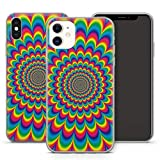 Handyhülle PSY für Apple iPhone Silikon MMM Berlin Hülle Goa Trance Psychedelic Techno LSD Om Bass, Hüllendesign:Design 5 | Silikon Klar, Kompatibel mit Handy:Apple iPhone 11