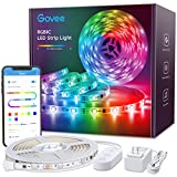 Govee RGBIC LED Strip Lights, 16.4ft Color Changing LED Lights with App Control, 64 Scene Modes, Music Mode, Easy Installation Light Strip for Bedroom, Kitchen, Party, Living Room