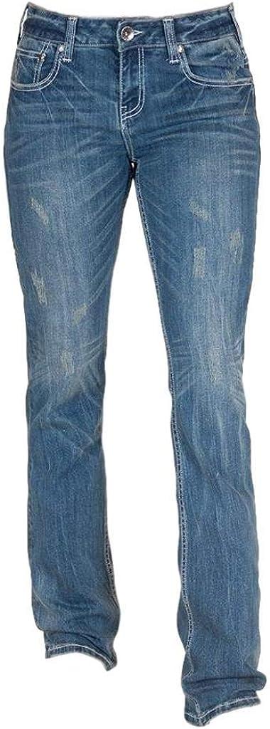 Tampa Mall Cowgirl Tuff Western Jeans Womens Award-winning store Medium Reboot Hippie JHIP Wash