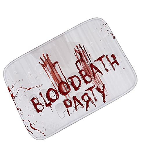 ZSDFPW Alfombra Antideslizante Palma de Sangre de Halloween Rojo Blanco Alfombras Salon...