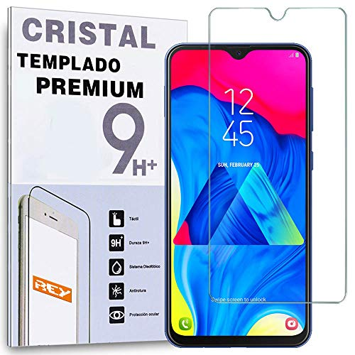 REY Protector de Pantalla para Samsung Galaxy M10 - M20 - A10, Cristal Vidrio Templado Premium