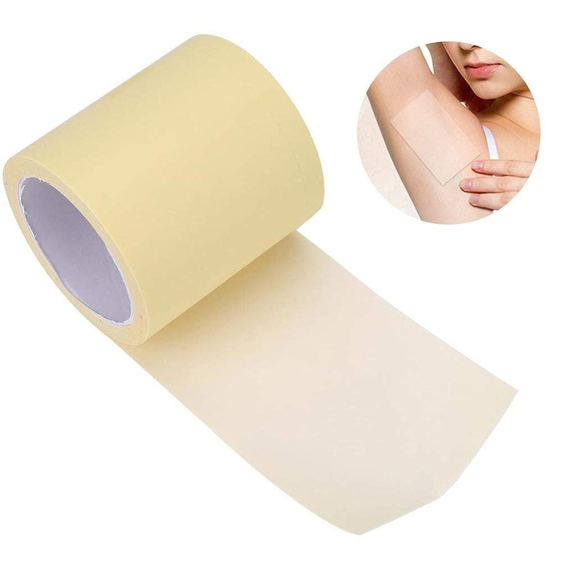 信頼性不調和再生Yiteng 脇の下汗パッド 汗止めパッド 皮膚に優しい 脇の汗染み防止 抗菌加工 皮膚に優しい 男性/女性対応 透明 全長6m 脇の下