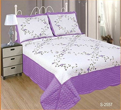 ForenTex- Colcha Boutí Cosida y bordada, (PS-2557), cama 90 y 105 cm,...