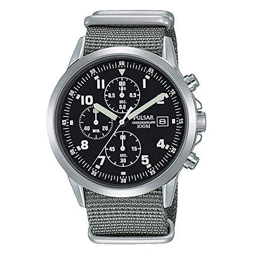 SEIKO PULSAR PM3129X1 Military Watch セイコー パルサー ミリタリー クロノグラフ パイロットウォッチ ブラック グレー 腕時計 民間用 英国空軍 イギリス軍 RAF [並行輸入品]