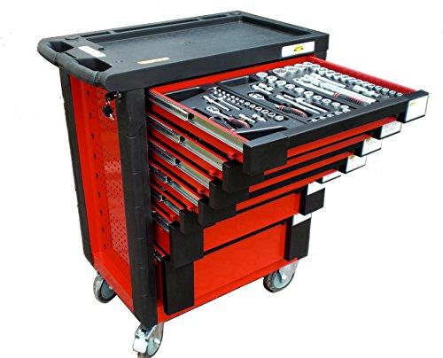 Bensontools Werkstattwagen 542 teilig Werkzeugwagen gefüllt Werkzeug 7 Kugelgelagerte Laden, 1 Stück, XL, 6333 - 2