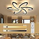 LEDリビングルームシーリングライト 無段階調光リモコン付き LED 8-12 和風ペンダントライト ファッショナブルさくら形シーリングライト 北欧スタイルシーリングライト リビングルーム ベッドルーム ダイニングルーム キッズルーム照明 間接照明 和風学習 取付簡単 ロマンチックな団欒家庭用照明 (72W)