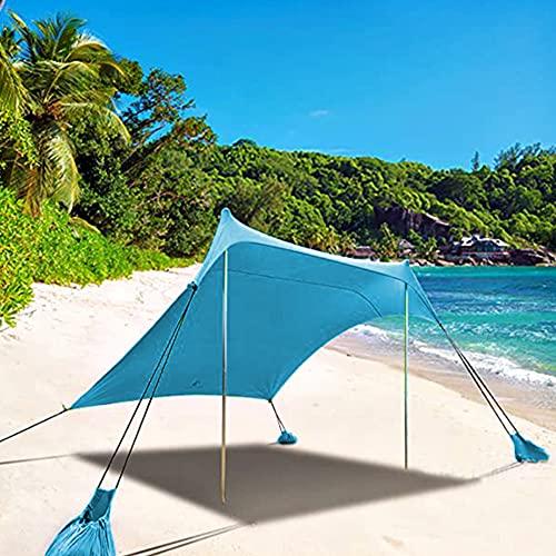 XCUGK Tiendas instantáneas Pop Up Anti UV Carpa de Playa 6.9 x 6.5 pies con Postes de Estabilidad y Bolsa de Transporte Carpa con Dosel para Pesca en la Playa Patio Trasero