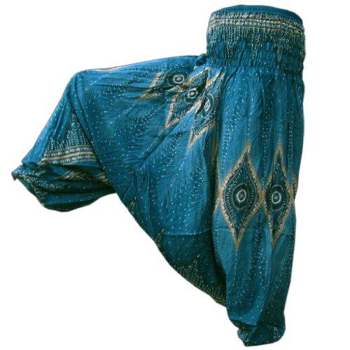 PANASIAM Aladin Pants: Ae01PcockTruquise