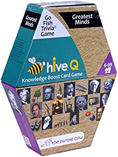 The Purple Cow - Go Fish Trivia Hive Q Educational Card Games - Greatest Minds - Kids & Adults Ages 6 & Up. an Education Opportunity That'S So Much Fun