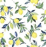 NuWallpaper NUS3161 - Papel pintado, diseño de gotas de limón, color amarillo
